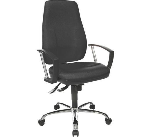 DREHSTUHL - Schwarz, Basics, Kunststoff/Textil (50/105-118/50cm)