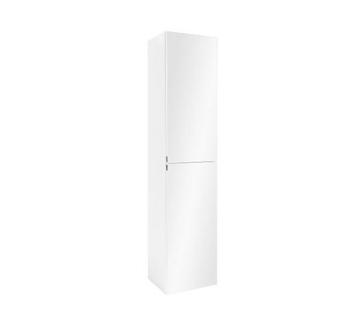 HOCHSCHRANK Weiß  - Chromfarben/Weiß, KONVENTIONELL, Glas/Holzwerkstoff (40/180/35cm) - Xora