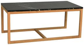 SOFFBORD - svart/ekfärgad, Design, trä/sten (120/50/60cm) - Rowico