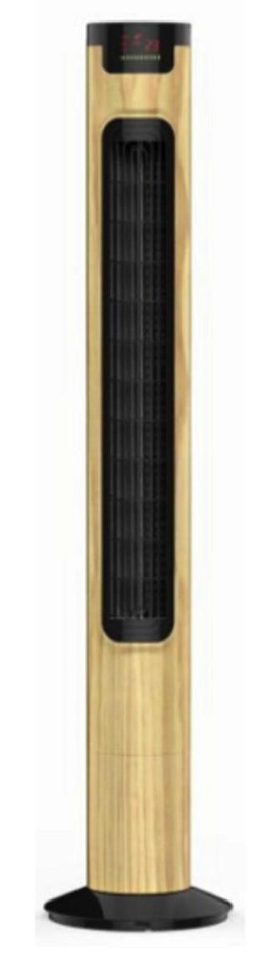 TURMVENTILATOR JULIETA - Ahornfarben/Schwarz, KONVENTIONELL, Kunststoff (15/13,7/81cm)