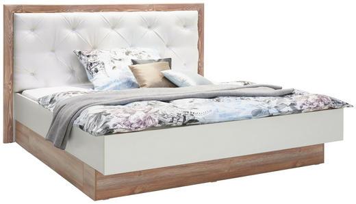 BETT 180/200 cm  in Kieferfarben, Weiß - Weiß/Kieferfarben, Design, Holzwerkstoff/Textil (180/200cm) - Carryhome