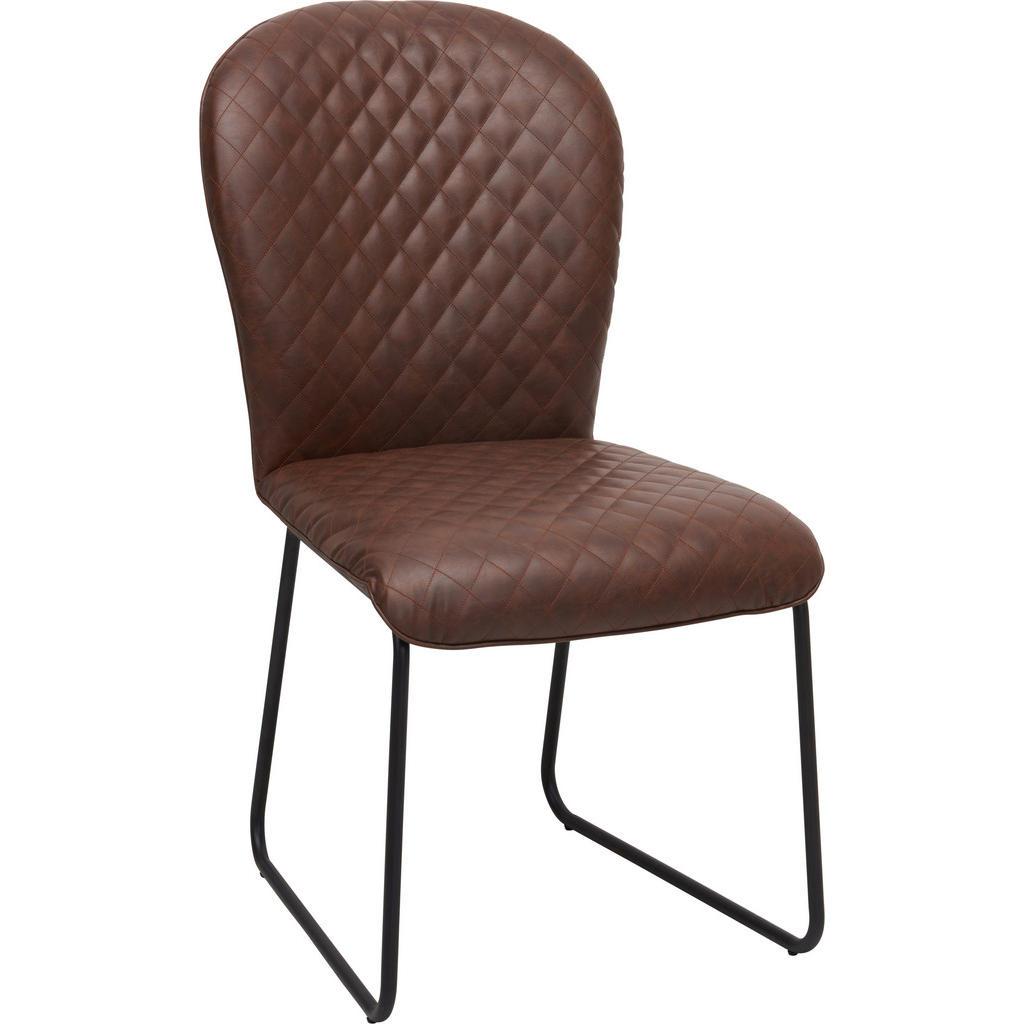 Image of Ambia Home Stuhl in metall, textil braun, schwarz , Neo , Uni , 49x92x66.5 cm , pulverbeschichtet, glatt,Lederlook , 002403000701
