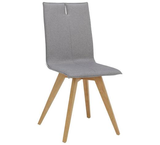 STUHL in Holz, Textil Grau, Eichefarben  - Eichefarben/Grau, Design, Holz/Textil (44/93/55cm) - Lomoco
