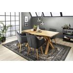 ARMLEHNSTUHL in Anthrazit, Eichefarben  - Eichefarben/Anthrazit, Design, Holz/Textil (56/82/55cm) - Carryhome