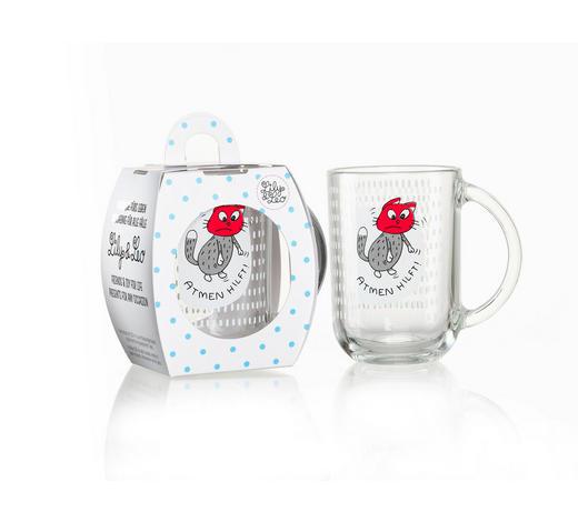TEEGLAS 320 ml - Rot/Weiß, Basics, Glas (8/8/10cm) - Ritzenhoff Breker