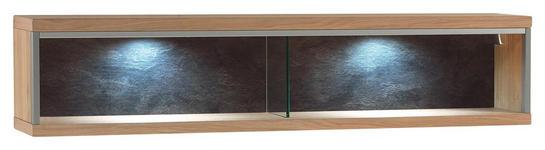 WANDREGAL Eiche furniert Eichefarben - Eichefarben, KONVENTIONELL, Holz (124/27/23cm) - Cantus