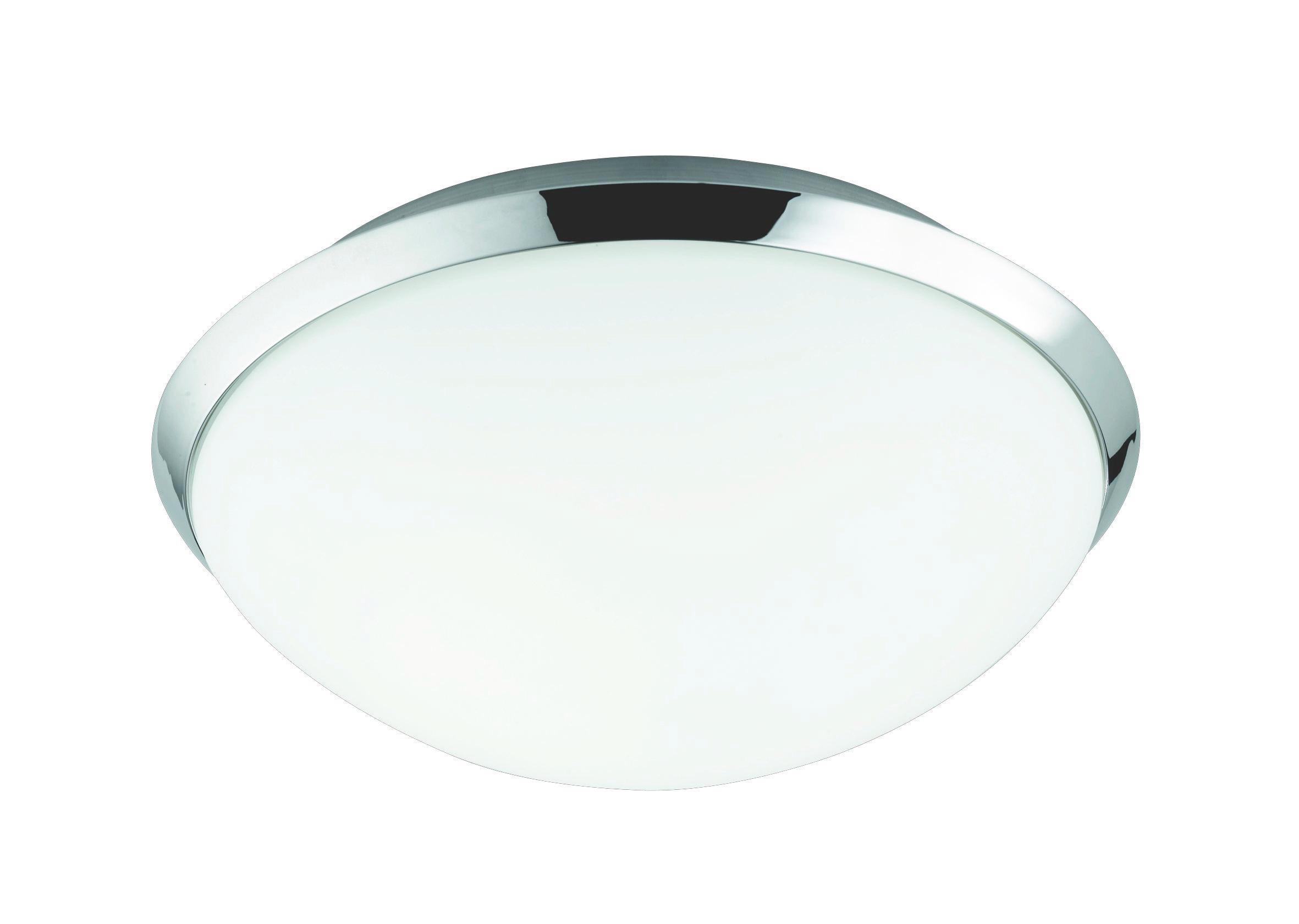 BADEZIMMER-DECKENLEUCHTE - Chromfarben/Weiß, Basics, Metall (25/10.5cm)