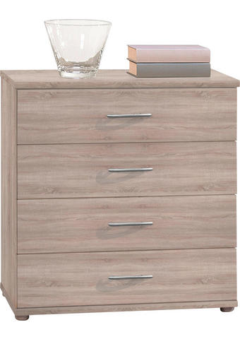 KOMMODE Eichefarben  - Eichefarben/Silberfarben, Design, Kunststoff (60/70/30cm) - Carryhome