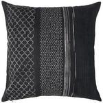 KISSENHÜLLE Schwarz  - Schwarz, Design, Textil (50cm) - Ambiente