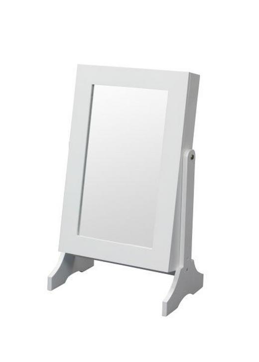 SCHMUCKSCHRANK - Weiß, KONVENTIONELL, Glas/Holzwerkstoff (35/60/23,30cm) - CARRYHOME