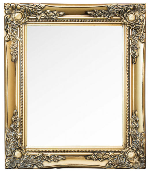 WANDSPIEGEL Goldfarben - Goldfarben, LIFESTYLE, Glas/Holz (27/32/3cm)