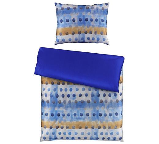 BETTWÄSCHE 140/200 cm  - Blau/Beige, KONVENTIONELL, Textil (140/200cm) - Novel