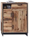 SCHUHSCHRANK 90/113/38 cm  - Graphitfarben/Braun, Trend, Holzwerkstoff/Metall (90/113/38cm) - Voleo