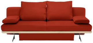 SCHLAFSOFA in Textil Rot - Chromfarben/Rot, Design, Textil/Metall (215/96/103cm) - Dieter Knoll