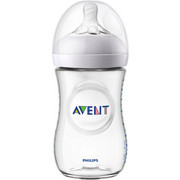 WEITHALSFLASCHE 260 ml - Transparent, Basics, Kunststoff (7,1/16,6cm) - Avent