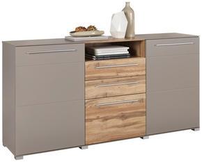 SIDEBOARD - kromfärg/silver, Design, träbaserade material/plast (180/90/43cm) - Hom`in