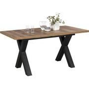 JÍDELNÍ STŮL, černá, barvy dubu - černá/barvy dubu, Konvenční, kompozitní dřevo (160(210)/90/75cm) - Hom`in