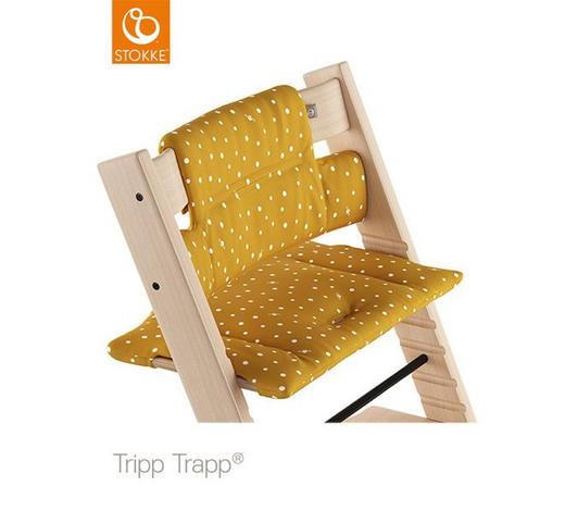 HOCHSTUHLEINLAGE  - Gelb, Trend, Textil (28/21/7cm) - Stokke