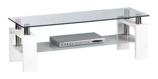 TV-ELEMENT Klar, Weiß - Klar/Weiß, KONVENTIONELL, Glas (120/42/39cm) - Carryhome