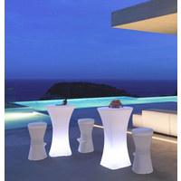LED STEHTISCH BAHAMA 110 - Weiß, Design, Kunststoff (70/110cm)