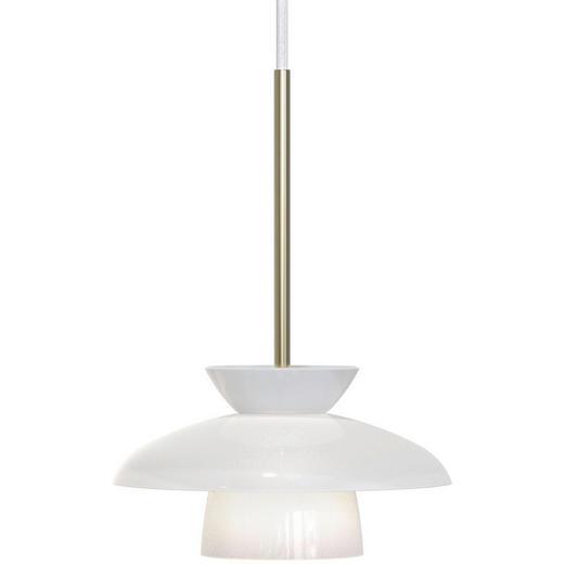 LED-HÄNGELEUCHTE - Messingfarben/Weiß, MODERN, Glas/Metall (21/30cm)