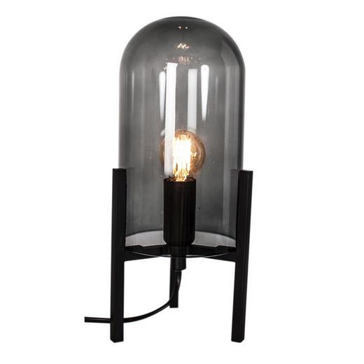 TISCHLEUCHTE - Schwarz/Grau, Design, Glas/Metall (14/30cm)