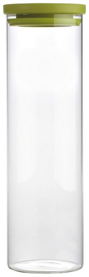 FÖRVARINGSBURK - klar/grön, Basics, glas/plast (9,5/31cm) - Homeware