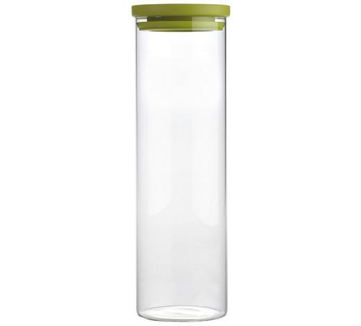 VORRATSDOSE  2 L - Klar/Grün, Basics, Glas/Kunststoff (9,5/31cm) - Homeware