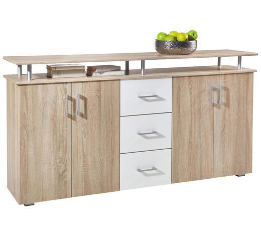 SIDEBOARD - Eichefarben/Silberfarben, Design, Holzwerkstoff/Kunststoff (180/90/40cm) - Boxxx