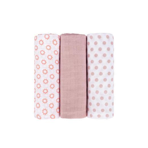 WICKELTUCH - Schwarz/Rosa, Basics, Textil (85/0/85cm) - Lässig