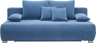 SCHLAFSOFA Webstoff Blau - Blau/Chromfarben, Design, Kunststoff/Textil (212/72-90/108cm) - Hom`in
