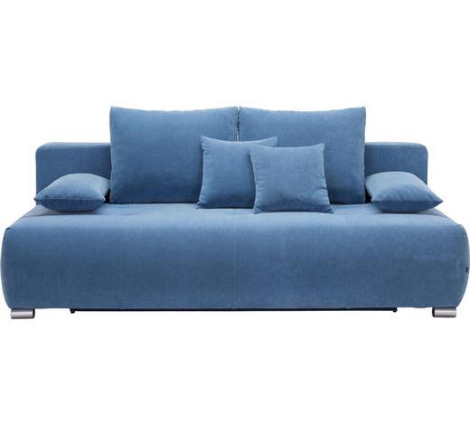 Schlafsofa In Textil Blau