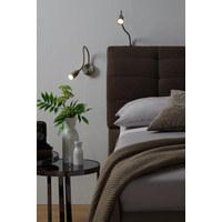 LED-WANDLEUCHTE - Klar/Nickelfarben, Design, Kunststoff/Metall (48cm)