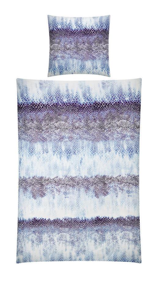 BETTWÄSCHE Satin Blau, Weiß 135/200 cm - Blau/Weiß, Design, Textil (135/200cm) - Ambiente