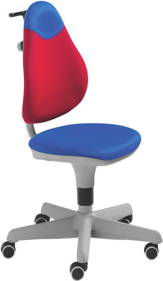 JUGENDDREHSTUHL Netz Blau, Rot - Blau/Rot, Basics, Kunststoff/Textil (63/86-102/53cm) - Paidi