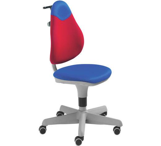 JUGENDDREHSTUHL - Blau/Rot, Basics, Kunststoff/Textil (63/86-102/53cm) - Paidi