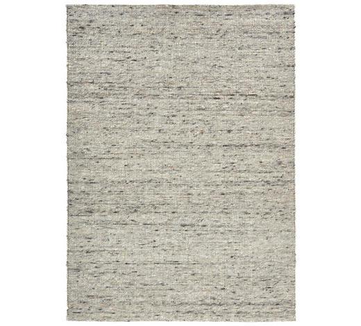Handwebteppich 70/130 cm  - Schwarz/Grau, Natur, Textil (70/130cm) - Linea Natura