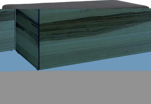 GARDEROBENBANK Kernesche furniert, teilmassiv Eschefarben - Chromfarben/Eschefarben, Design, Holz/Kunststoff (90/47/37cm) - CASSANDO