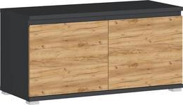 GARDEROBENBANK 96/52/40 cm  - Eichefarben/Anthrazit, Design, Holzwerkstoff/Kunststoff (96/52/40cm) - Xora