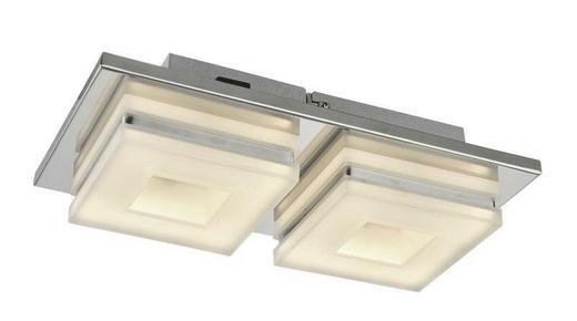 LED-DECKENLEUCHTE - Chromfarben, Design, Kunststoff/Metall (28/15/7cm)