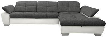WOHNLANDSCHAFT in Textil Beige, Grau - Chromfarben/Beige, Design, Textil/Metall (297/204cm) - Xora