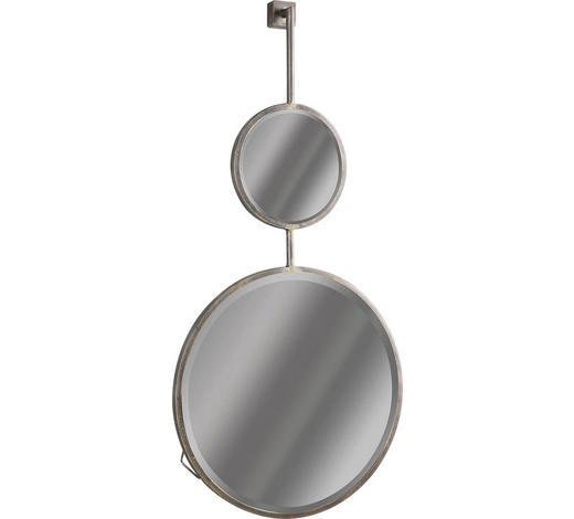 SPIEGEL - Schwarz, Design, Glas/Metall (46/87/10cm) - Ambia Home