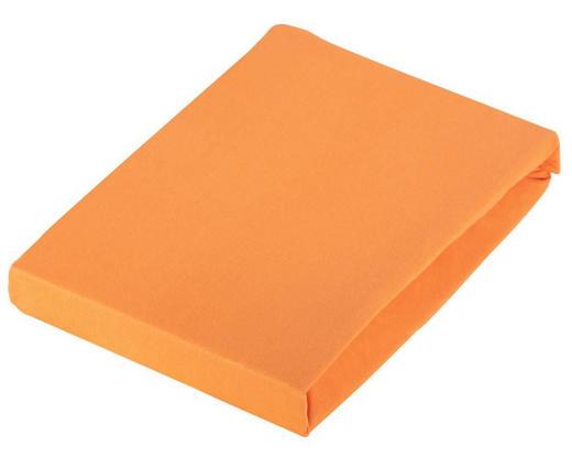 SPANNBETTTUCH Jersey Orange bügelfrei - Orange, Basics, Textil (100/200cm) - Novel