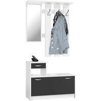 PREDSOBA bela, črna - črna/bela, Basics, leseni material (100/180/25cm) - Boxxx