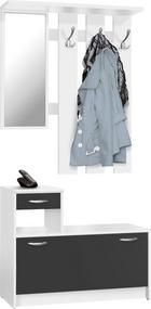 PREDSOBLJE - bijela/crna, Basics, drvni materijal (100/180/25cm) - Boxxx