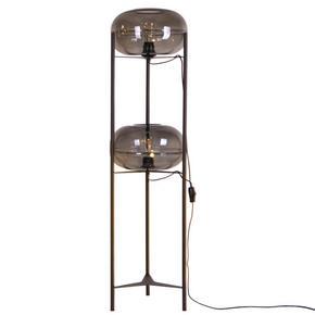 GOLVLAMPA - ljusgrå/svart, Trend, metall/glas (29/30/131cm) - Dieter Knoll
