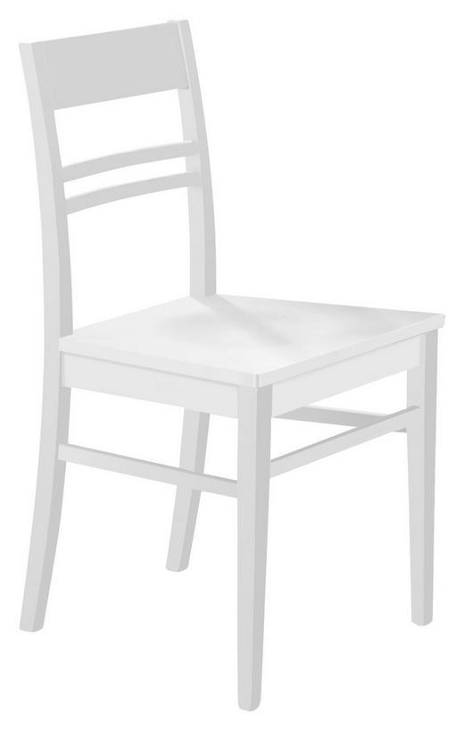 STUHL Buche massiv Weiß - Weiß, KONVENTIONELL, Holz (45/87/49cm) - Valdera