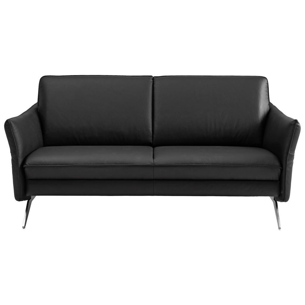 Himolla Komfortklass Zweisitzer-sofa in leder schwarz
