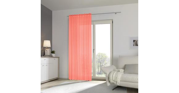 FERTIGVORHANG halbtransparent  - Koralle/Orange, Basics, Textil (140/300cm) - Esposa