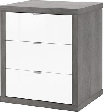 ROLLCONTAINER Grau, Weiß - Weiß/Grau, Design, Kunststoff/Metall (55/66/45cm) - Carryhome